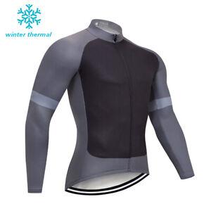 2021 Men's Team Fleece Lined Cycling Jerseys Long Sleee Bib Pants Kits Clothing