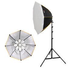 LIFE of PHOTO Daylight Dauerlicht-Set OS-930, 9x30 W mit Oktagon-Softbox Ø 90 cm