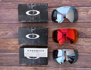 Oakley Flight Deck xm Ski Snow Goggles Replacement lenses PRIZM Sapphire, Torch