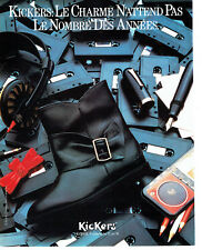 Publicité Advertising 088  1985   chaussures bottes Kickers  Korol