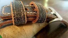 Vintage Uhrenarmband Braun 24 mm Ammo Watch Strap Uhrband armband Handgenähten