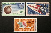 Stamp / Stamp Niger - Yvert and Tellier Aerial N°41, 42 And 43 N (Cyn16)