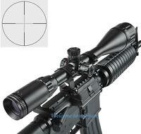 Illuminated 6-24x50AOL 5 level R/G Mil Dot Scope Sight&Mounts For Rifle Hunting