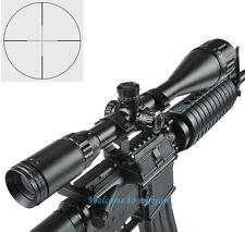 Iluminado 6-24x50AOL 5 nivel R/G mil dot scope Vista & Mounts para rifle de caza