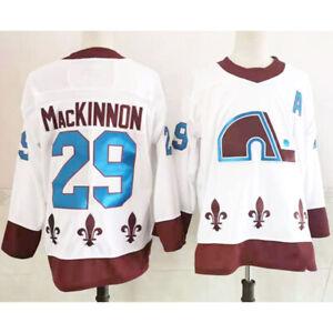 Reverse Retro 2021 Colorado Avalanche Nathan MacKinnon #29 White Hockey Jersey