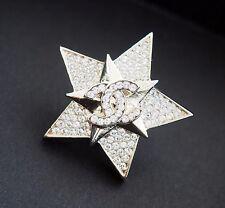2017 17C Cruise NWT CHANEL Rhinestones Star Gold Crystal Brooch Pin Cuba