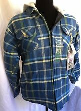 Stillwater Supply Co Boy's Flannel Jacket, Size 18, Blue, NWTs