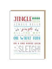 MUSIC TEACHER STUDENT Jingle Bells Christmas Card Musician Musical GIFT PRESENT