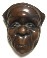 Antique, Fine Details, Japanese/Japan Bronze, Netsuke Mask (Mennetsuke)