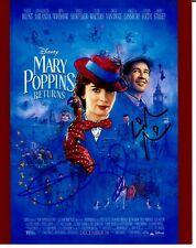 """""""Mary Poppins"""" Emily Blunt Lin-Manuel Miranda Signed 8X10 Color Photo COA"""