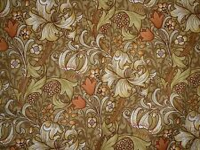 """VINTAGE WILLIAM MORRIS SANDERSON GOLDEN LILY FABRIC MATERIAL 48"""" BY 59"""""""