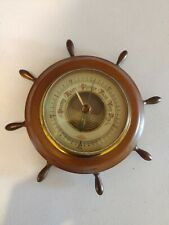 New listing Antique Ship Wheel Barometer Made In Germany vintage collectible old