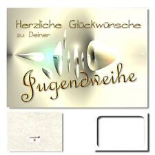 DigitalOase Glückwunschkarten Jugendweihe Grußkarte XXL A4 PanoramaUmschlag #242