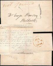 Escocia 1838 Dalkeith 1d gomígrafo + Carta... no se ha encontrado Manuscrito