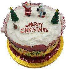 6 piece SET Merry Christmas Cake Decorations yule log cupcake toppers