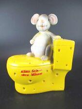 Spardose Toilette mit Maus,Money Box ,Alles Sch... ohne Mäuse,Neu