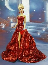 Red Sequins Evening Dress Outfit Gown Silkstone Barbie Fashion Model Royalty FR