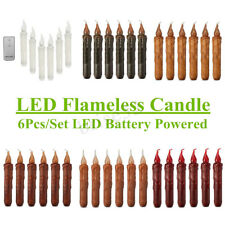 Flameless Wax Candle Battery Operated Taper LED Flickering Candle Wedding