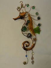Metal Seahorse Wall Art Sea Decor Hanging Decorative Glass Sculpture ZH2-13