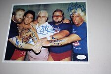 WCW THE FOUR HORSEMEN SIGNED 11X14 PHOTO RIC FLAIR, ARN, TULLY, OLE, JJ, JSA