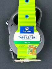 New Top Paw Retractable Tape Leash Dog Thumb-lock System Soft Grip Handle XS-L