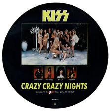 "KISS Crazy Crazy Nights 1987 UK 12"" Vinyl PICTURE DISC EXCELLENT CONDITION"