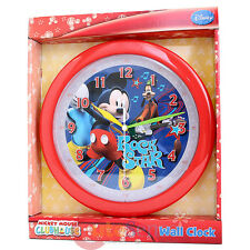 "Disney Mickey Mouse Friends Wall Clock 9.5""  Rock Star with Goofy"