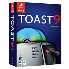 Roxio Toast 9 Titanium (for Mac) in Retail Box Full Version-New-Sealed Box-