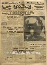 Journal l'Equipe n°2630 - 1954 -Cohen - Famechon - Robic - Van Vliet -