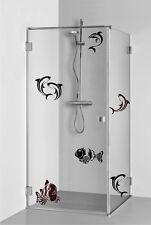 adesivo kit PESCI pesce fish sea wall murale sticker bagno vasca doccia toilette