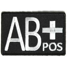 AB POSITIVE Blood ID Patch - By Ivamis Trading - 3x2 inch P4329 Free Shipping