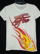 New Balance NB White This Girl is on Fire  Shirt Top sz S Workout Athletic