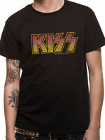 KISS T Shirt Vintage Classic Logo Official Licensed Black Mens Tee Rock NEW