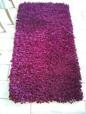 SMALL THICK MODERN HIGH PILE PLAIN SOFT NON-SHED SHAGGY LOW COST RUG 148 x 80 cm
