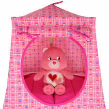 Light pink, small flower print Toy Play Pop Up Tent, 2 Sleeping Bags, handmade