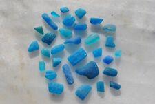 aqua turquoise hues genuine Aegean Sea surf tumbled beach sea glass