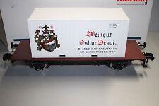 Märklin 5410 2-Achser Containerwagen Weingut Oskar Desoi Spur 1 OVP