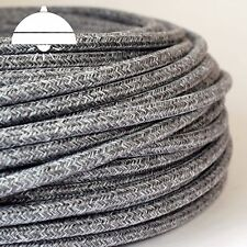 KNITTED JUMPER GREY - ITALIAN PREMIUM THICK Vintage fabric Style 3-Core cable