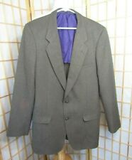 Patagonia Brown Herringbone Polyester Blend Lined Sport Coat Blazer Men's 44 L