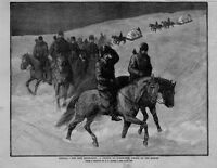 CANADA THE RIEL REBELLION A CONVOY OF NORTHWEST POLICE ON THE MARCH ON HORSEBACK