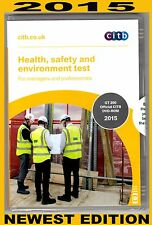 CSCS Health safety and environment test  DVD for Managers and Professionals 2015
