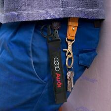 Brand New Universal Keychain Metal key Ring Hook Strap Lanyard Nylon for AUDI