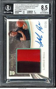 2020 Immaculate Premium Patches Rookie Autographs Gold Lamelo Ball BGS 8.5 /25