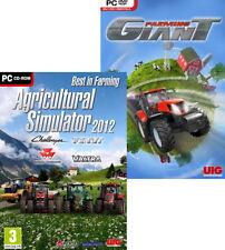 AGRICULTURAL MEGAPACK - Ag Simulator 2012 + Farming Giant 2x Farm PC Games NEW