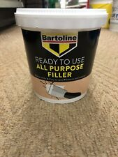 1 x Bartoline All Purpose Filler 1kg Ready Mixed White Wood Interior Exterior