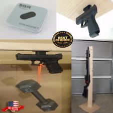 Magnet Holster Gun Stand Car Pistol Rifle Under Desk Mount Safe Magnetic Holder