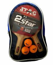 Table Tennis Sports Play Set- 2 Racquets / Bats and 3 Balls- 2 Star