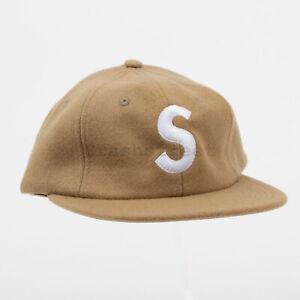 Supreme Wool S Logo 6-Panel hat cap box tee logo sweatshirt camp Tan