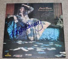 TONY VISCONTI WOODY WOODMANSEY SIGNED 'DAVID BOWIE' VINYL RECORD LP w/COA PROOF