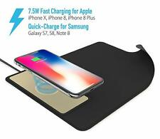 Qi Wireless 10W Fast Charger Charging Mouse Pad For iPhone 8 8Plus SE  XR XS Max